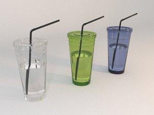 3D tumbler straw