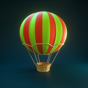 3D hot air balloon cartoons model