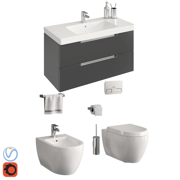 3D toilet villeroy boch subway