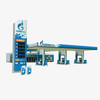 Gazprom petrol station