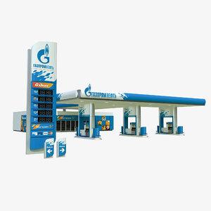 gazprom petrol station 3D