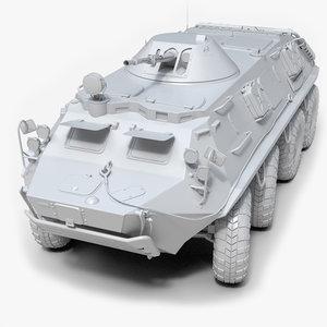 3D soviet btr-60 untextured