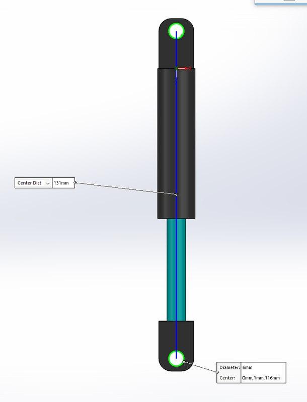 3D gas spring model
