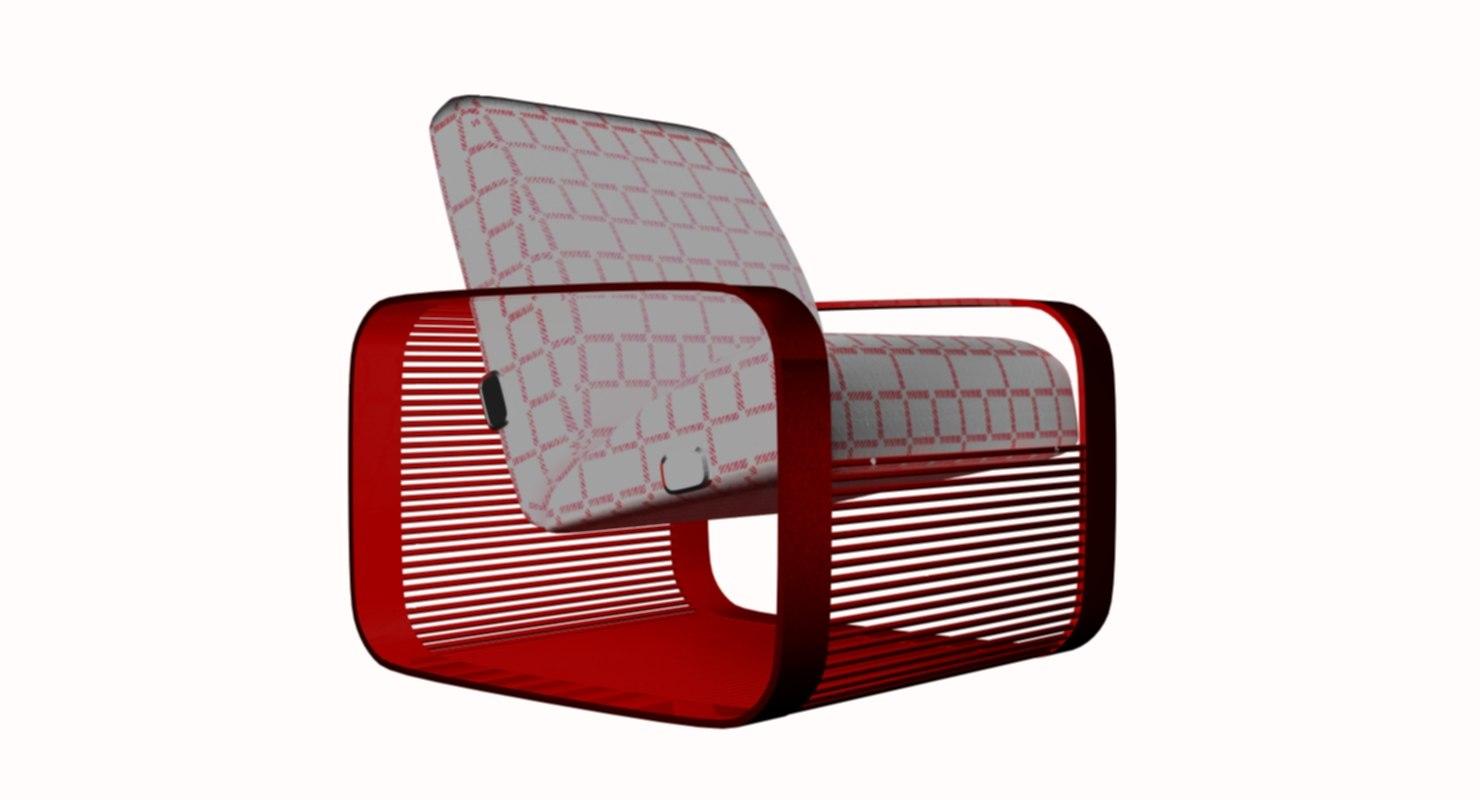 3D luxury armchair loft