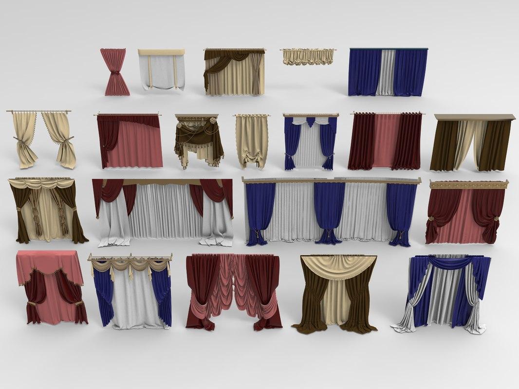 curtains - 21 3D model