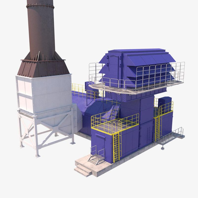 gas compressor gpa 12 3D model