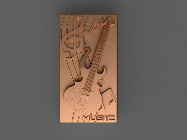3D guitar mold hand model