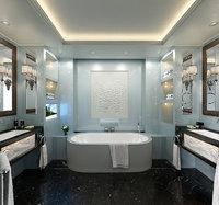 3D model premium bathroom interior