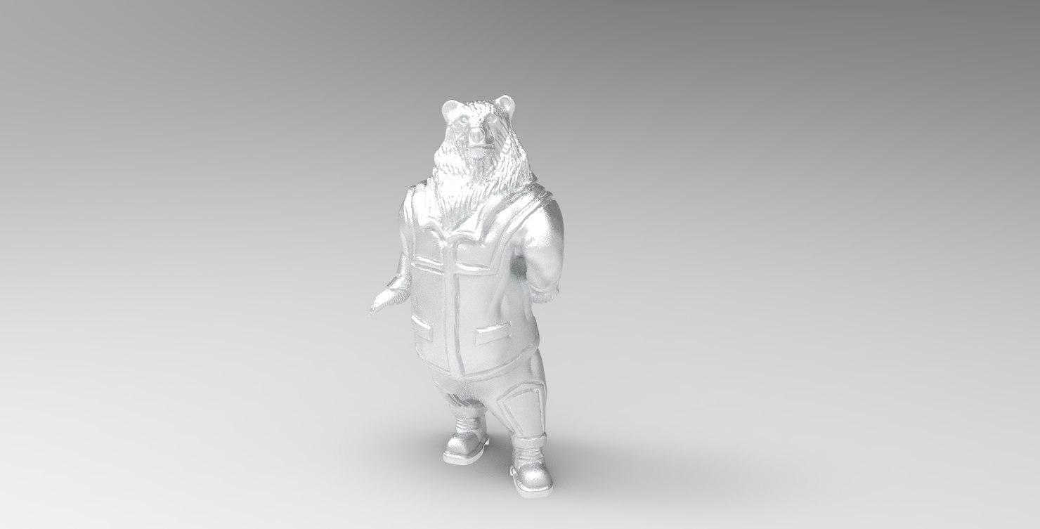 bear sculpture 3D model