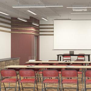 3D model meeting classroom