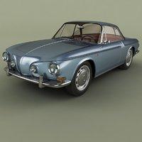 1962 volkswagen karmann ghia 3D model