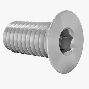 bolt steel 3D model
