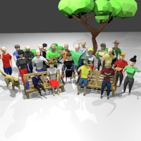 style scenes people 3D