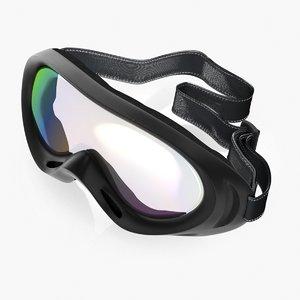 3D model windproof sport glasses skiing