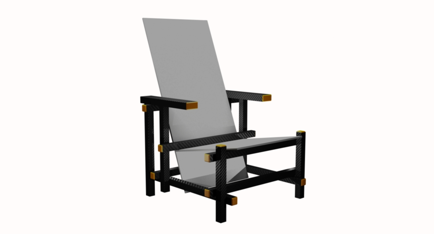 chair piet mondrian 3D model