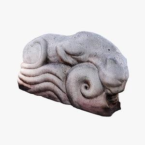 panther sculpture modeled 3D model