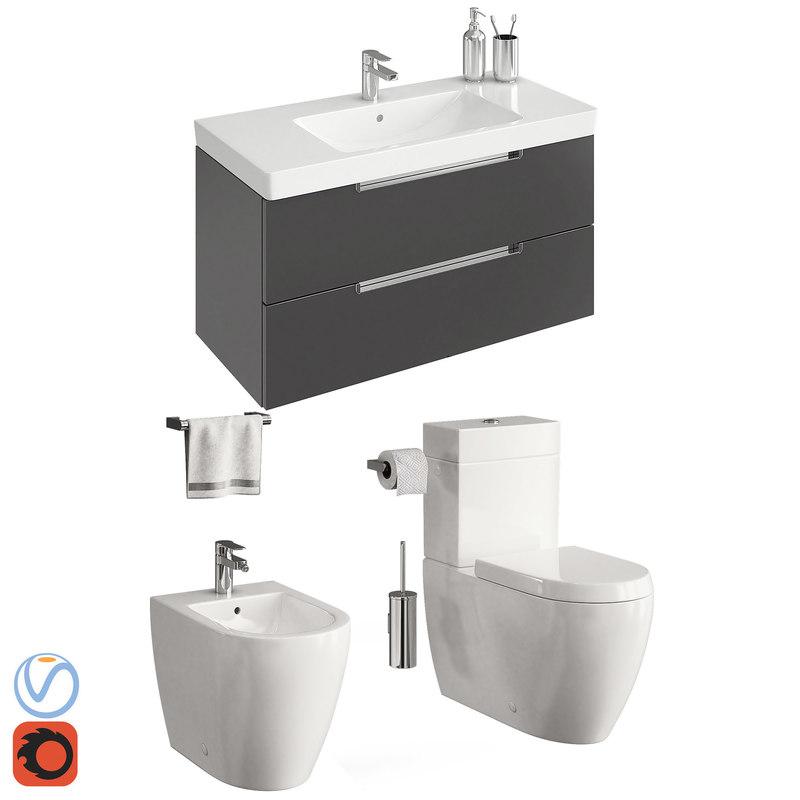 3D toilet villeroy boch subway model