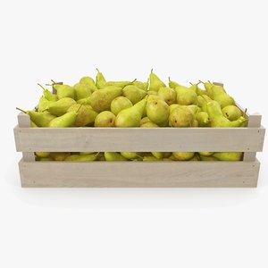 3D pear conference v2 wooden crate
