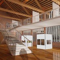 Modern Art Gallery II 3ds Max 2015