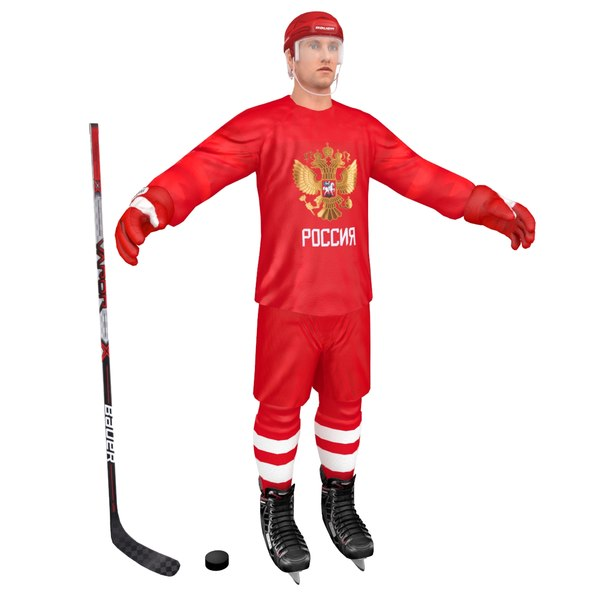 3D hockey player