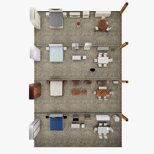 3D interior scene filler model
