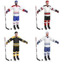 3D model pack hockey player