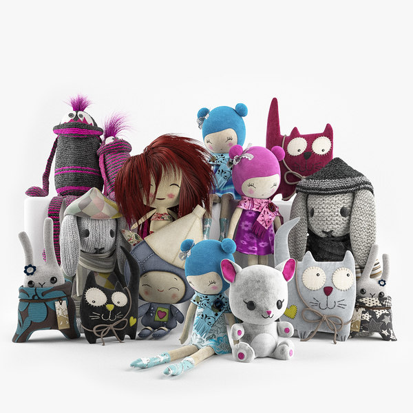 3D toys cuddly model