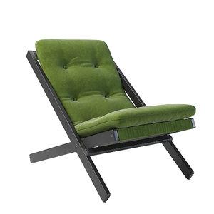 folding chair boogie lime 3D