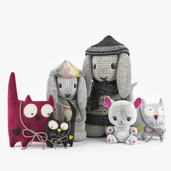 3D toys cuddly