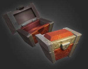 simple treasure chest 3D