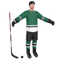3D hockey player model
