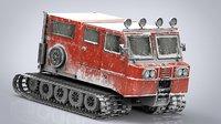 3D snowcat track