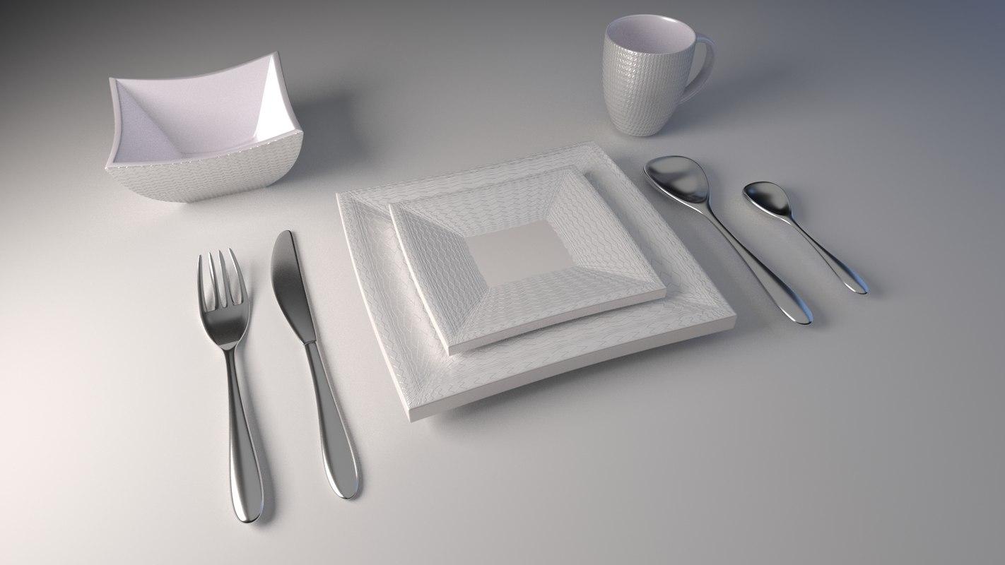 3D interior fork knife