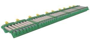 metal sheet roller conveyor 3D