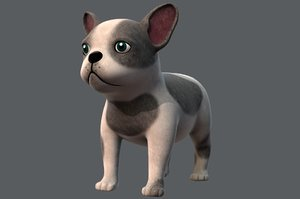 3D dog base cartoonv03 cartoon animal