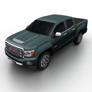 gmc canyon 2015 pickup truck 3d model