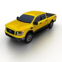 nissan titan 2016 pickup truck 3d 3ds