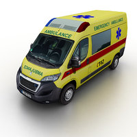 2015 peugeot boxer ambulance 3d 3ds