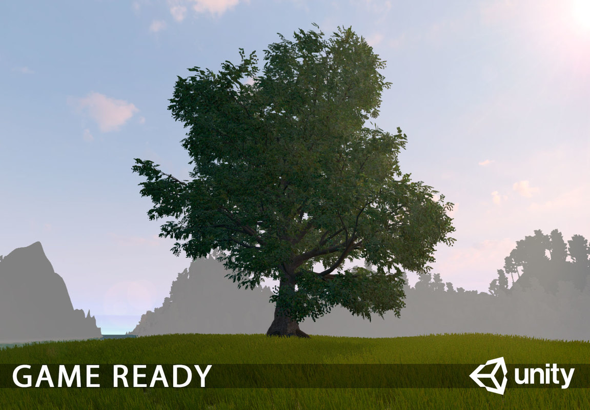 Old Oak for unity Low-poly 3D model