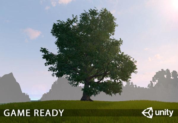 3D old oak unity model