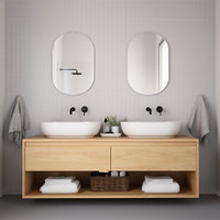3D mirror washbasin