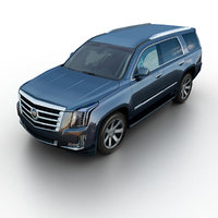 3d cadillac escalade suv model