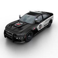3d model 2015 dodge charger srt