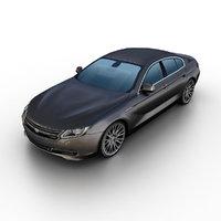 generic luxury sedan 3d 3ds