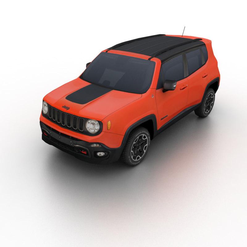3d 2015 jeep renegade model