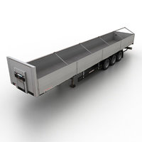 3d model platform semitrailer