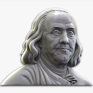 3D model benjamin franklin bas relief