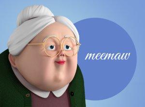 character elderly female 3D