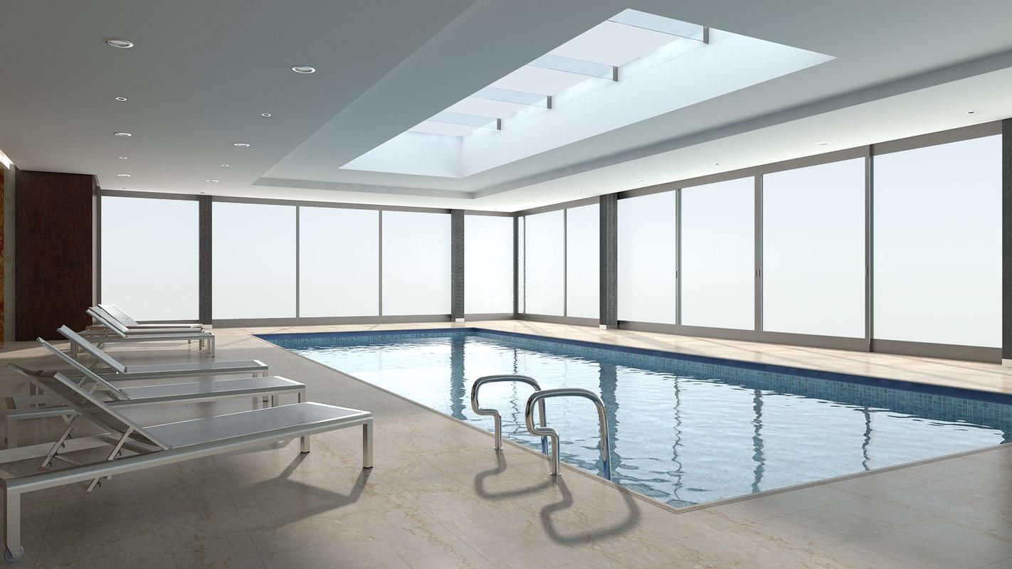 3D scene swimming pool