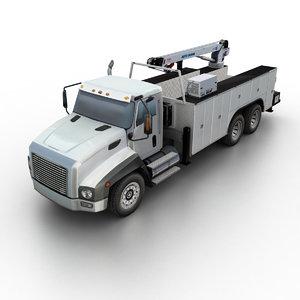 3d auto crane truck model